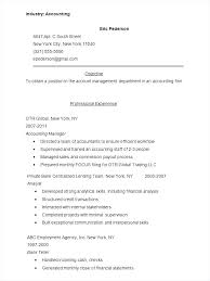 Sample Resume For Accountant Assistant Of Accounting Student