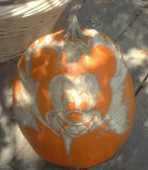 Mickey Mouse Vampire Pumpkin Stencil by Disney Halloween Pumpkins
