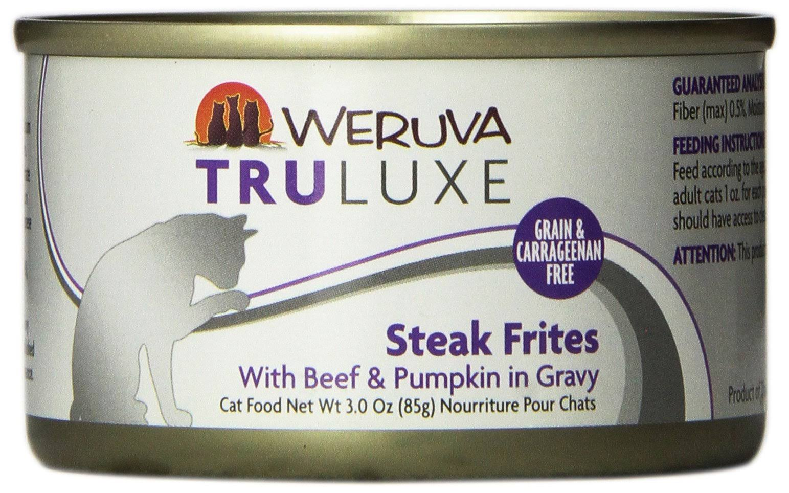 Weruva Grain Free Truluxe Canned Cat Food - Steak Frites, Adult