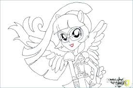Mlp Eg Coloring Pages Twilight My Little Pony