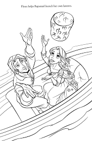 Rapunzel Tangled Coloring Pages Disney Printable