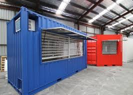 Quick Assembly Modified Steel Shipping Containers Take Away Restaurant Shop