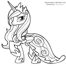 Princess Celestia My Little Pony Coloring Pages Trend Book