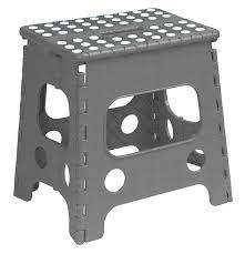 Cosco Retro Chair With Step Stool Black by Amazon Com Folding Step Stool 18 Inch Black Kitchen U0026 Dining
