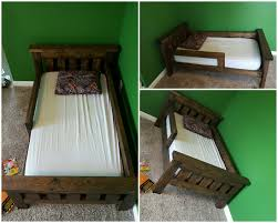 Ana White Wood Shed Plans by Rustic Farmhouse Toddler Bed Built From Ana White Plans Added