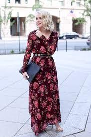 fall floral long sleeve maxi dress poor little it