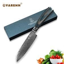 meilleur couteaux de cuisine yarenh 5 acier damas santoku couteaux couleur manche en bois
