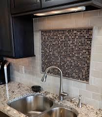 Accent Tiles For Kitchen Backsplash Subway Tile Backsplash With Glass Tile Inlay Accent Dover
