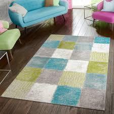 teppich modern preiswert wohnzimmer teppiche kariert style