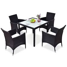 5 Pcs Black Outdoor Patio Rattan Table + Chairs Set Alexia 5 Pcs Contemporary Set 4 Black Chairs And White Modern Table Inspire 5piece Greywhite Kids Table And Chair Set Garden Trading Rive Droite Bistro Chairs Shutter Blue Costway Piece Ding Wood Metal Kitchen Breakfast Fniture Black Rakutencom Black Table Chairs Dorel Living Devyn 3piece Faux Marble Pub Ikea In Camberwell Ldon Gumtree Brooklyn Oak Leather Bro103 Warmiehomy Glass 6 With 2375 Square Inoutdoor 2 Meco Sudden Comfort Deluxe Double Padded Back Card Courtyard Cosco Foldinhalf Folding