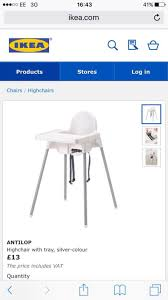 Ikea Antilop High Chair Tray by Used Ikea Antilop High Chair In Me20 Ditton For 5 00 U2013 Shpock