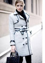New Fashion Brand Womens British Style Trench Pea Coat Winter Woolen Cashmere Blend Jacket Double