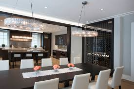 Dining Room Kitchen Custom Refrigerated Wine Cabinets