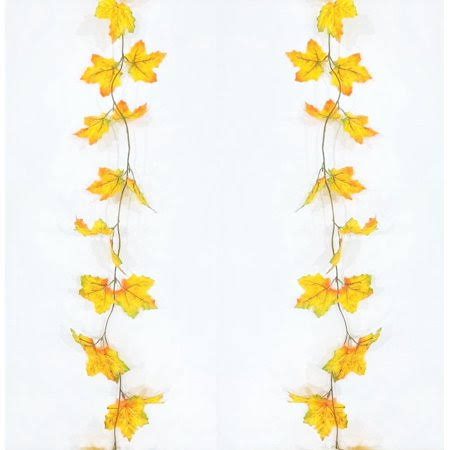Darice Fall Garland Maple Leaf Durable Thanksgiving Decorations Gift - 6 Feet
