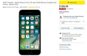 Get the 32GB iPhone 6 with AT&T prepaid service for $199 99