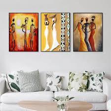malen nach zahlen afrika 3 frauen dekoration