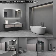 Bathroom Furniture Set Bespoke 6 3D Model