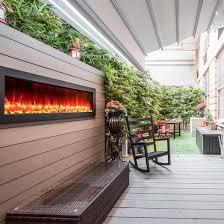 Outdoor Electric Fireplaces Modern Blaze