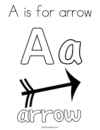 A Is For Arrow Coloring Page