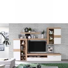 wohnwand atyzon artisan eiche weiß wohnzimmer 5 tlg anbauwand tv wohnlösung
