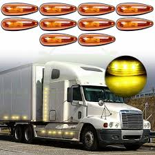 100 Length Of A Semi Truck 5Pair Sealed Roof Cab Clearance Light 12V Mber Side Marker