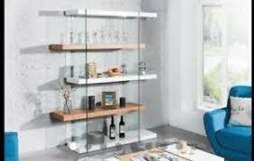 design regal kommode weiß hochglanz eiche glas wohnzimmer