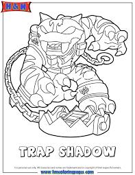 Skylanders Swap Force Magic Trap Shadow Coloring Page
