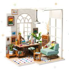 Amazoncom ROBOTIME Miniature Dollhouse Kit Decorations With Lights
