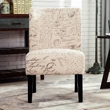 French Script Chair Canada by Amazon Com Roundhill Furniture Capa English Letter Print Fabric
