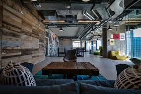 The Prominent Social Interaction Atmosphere That Is So Identified With Facebook Reflected In Huge Industrial Flavored Office Space Combines