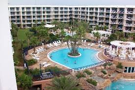 Waterscape Condominiums Upper Level Pool With Waterfall Kiddie Is In The Far