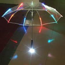 fonction le de poche 10 pcs 7 couleurs changeantes led lumineux transparent parapluie