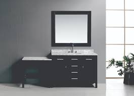 Single Sink Bathroom Vanity With Makeup Table by Make Up Table Design Element