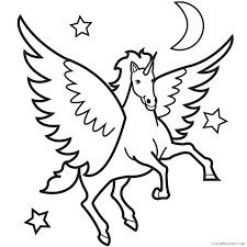 Pegasus Coloring Pages Printable Barbie Colouring