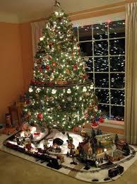 Christmas Tree Train Set Go Around