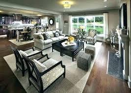 Open Floor Plan Kitchen Living Room Excellent Dining