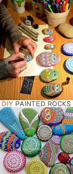 How To Turn A Simple Rock Into Beautiful Art New Craft Works