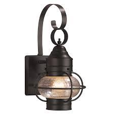 shop portfolio trevett 14 in h matte black outdoor wall light at