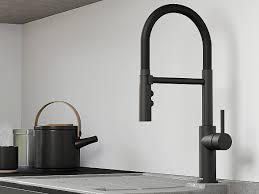 beton style spülen schwarze armaturen blanco