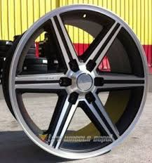 24 INCH BLACK IROC RIMS WHEELS AND TIRES TAHOE Z71 YUKON AVALANCHE