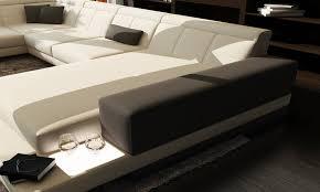 canapé cuir en u canapé en u cuir canap en u scandi cuir v ritable salon haut de