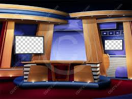Royalty Free Classic Virtual News Studio Set Camera 3