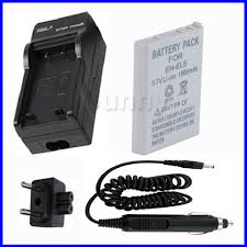 EN EL5 Rechargeable Li Ion Battery Pack Charger for Nikon
