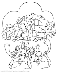 Print Version Joshua Wall Of Jericho Coloring Page