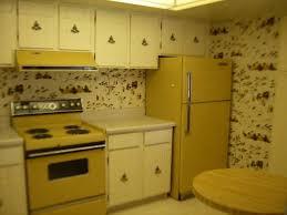1970s 70s Decor Kitchen Ugly Wallpaper Harvest Gold Appliances Bad MLS Photos Phoenix Homes Real Estate