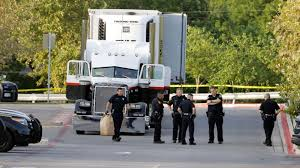 Texas Police Find 30 People Injured And 8 Dead In Trailer | PEOPLE.com Commercial Truck Sales Wash In California Best Rv Used Trailers For Sale Gts Trailer Lcc Galachescom Semi Trucks Sale Texas New And Cat Dump For As Well In Also Nissan 2007 Freightliner Columbia Semi Truck Item Bj9926 Sold Dump Trucks For Sale Heavy Duty Truck Sales Used Freightliner Trucks Inventory Freeway Bumpers Cluding Volvo Peterbilt Kenworth Semitrucks Canyon Tx Lone Star Body