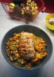 comment cuisiner un roti de dinde rôti de dinde et ses petits légumes recettes cookeo