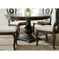 Black Dinette Sets Wire Brushed Antique Pedestal Table Cheap Dining