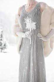 Winter Wedding Boququet Crystal Snowflake Bridesmaid Bouquet