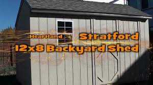 12x8 Backyard Shed - YouTube Belmont 8ft X Heartland Industries Storage Shed Building Plans Pallet House Pinterest Loft Plan Outdoor Storage Lowes Fniture Design And Ideas Big Buildings Archives Backyards Chic Cabinetry Ready To Exterior Amusing Liberty 10ft Us Leisure 10 Ft 8 Keter Stronghold Resin Shop Pasadena 89ft 12ft Microshade Wood New Home Metal Sheds Mansfield